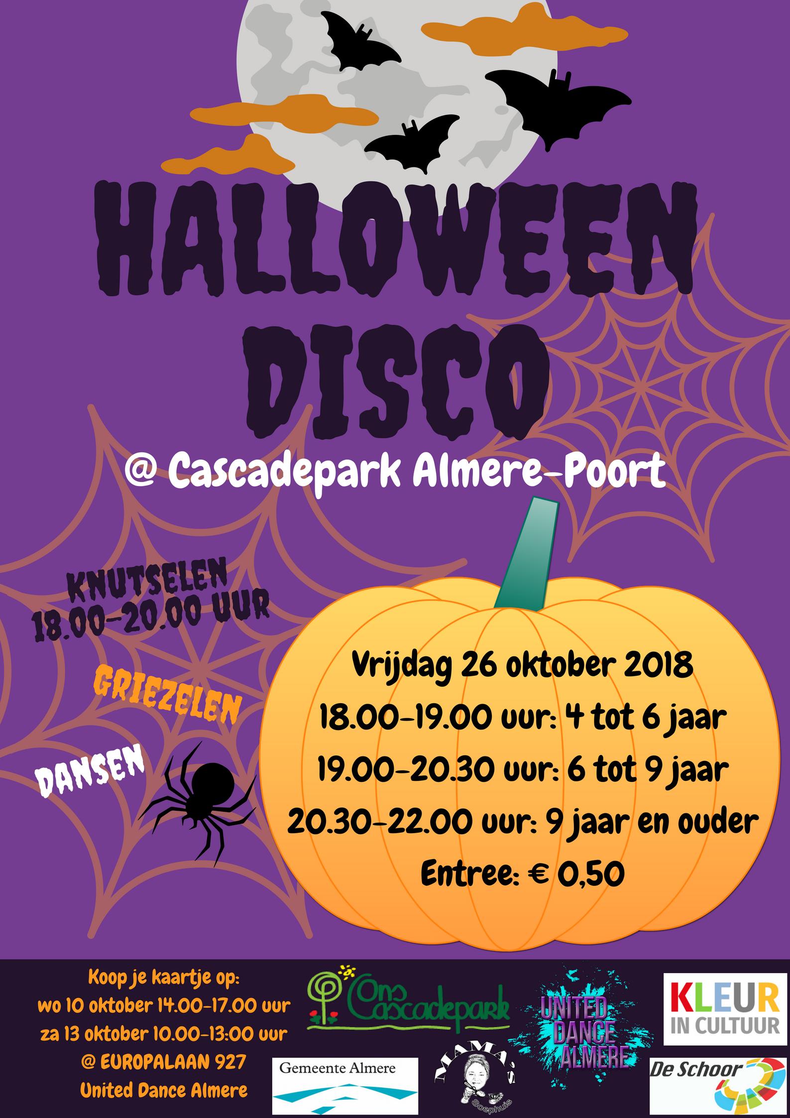 HALLOWEEN DISCO @ Cascadepark Almere-Poort
